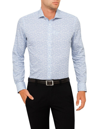 Paulo Paisley Print Super Slim Fit Shirt