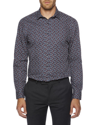 Ditsy Floral Printed Formal Super Slim (Camden) Shirt