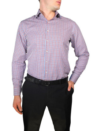 Oxford Check Slim Fit With Cuff Trim Shirt