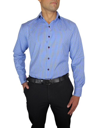 Check Slim Fit With Single Cuff