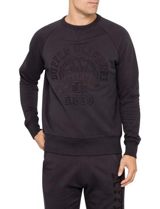 Crew Neck Embroidered Champions Fleece Top