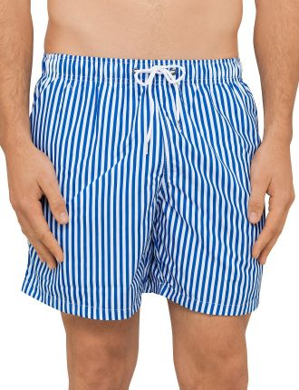 Deck Stripe Mid Length Swim Short