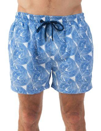 Umbrella Blue Classic Swim Short