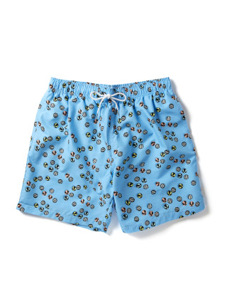 Blue Based Print Swim Short