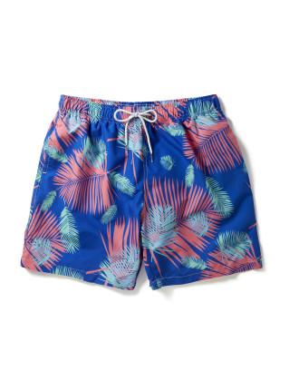 Blue Based Fern Print Swim Short