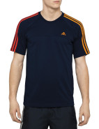 Short Sleeve Essentials 3 Stripe Crew Neck Tee $30.00