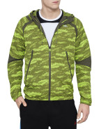 Clre Camo Print Zip Thru Trainging Top $100.00