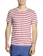 Short Sleeve Wide Stripe Tee $29.95