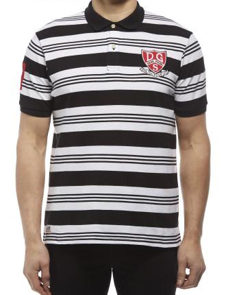 Short Sleeve Emery Stripe Polo