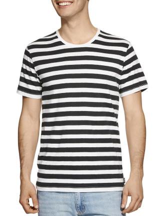 Short Sleeve Besties Stripe Tie-Dye Tee