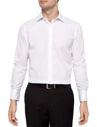 Solid Poplin Regular Fit Shirt