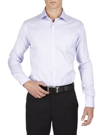 Sloper Check Traveller Slim Fit Shirt