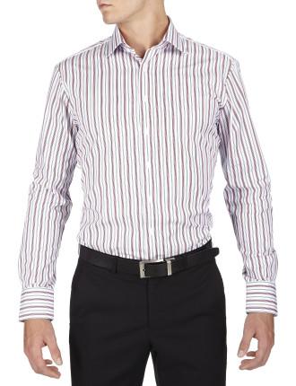 Mcbean Stripe Semi Classic Slim Fit Shirt
