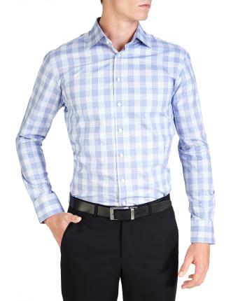 Macaulay Check Blue Semi Classic Slim Fit Shirt