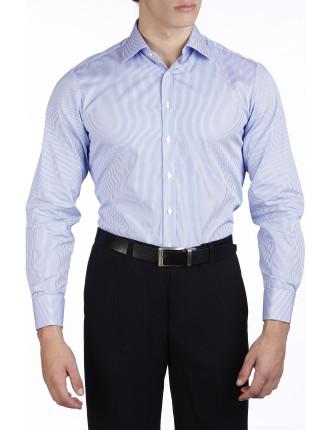 Douall Stripe Semi Classic Slim Fit Shirt