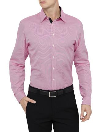 Blainey Stripe Pink & Black Slim Fit Shirt