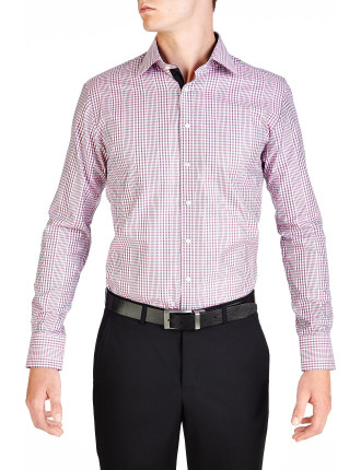 Dorchester Check Pink & Black Slim Fit Shirt