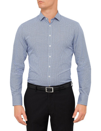 Slim Fit Bartlett Textured Button Cuff Shirt