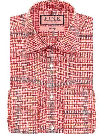 Theodore Textured Regular Fit Double Cuff Shirt