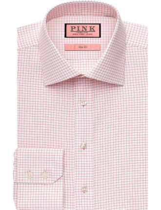 Slim Fit Anderton Check Button Cuff Shirt