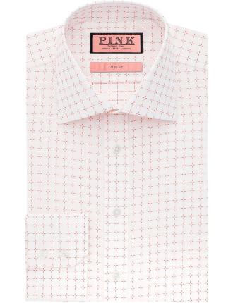 Slim Fit Belcher Textured Button Cuff Shirt