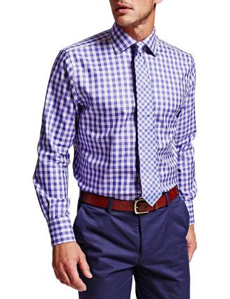 Plato Check Button Cuff Shirt