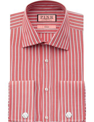 Newman Stripe Regular Double Cuff Shirt