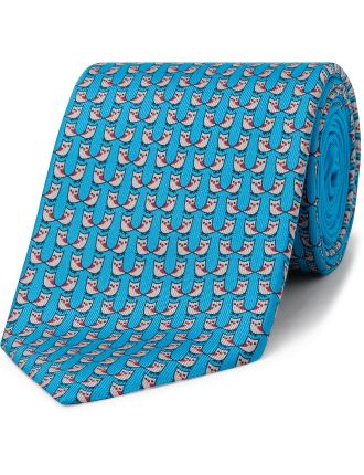 Owl Friend Print Tie