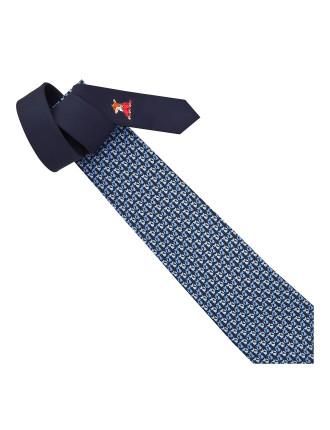 Fox Friend Print Tie