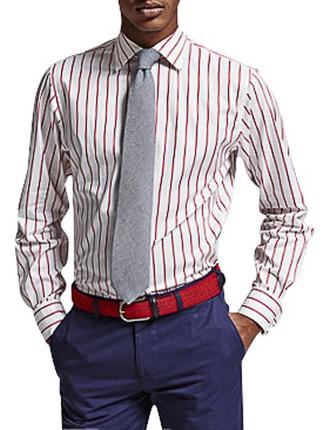 Alford Stripe Slim Fit Shirt