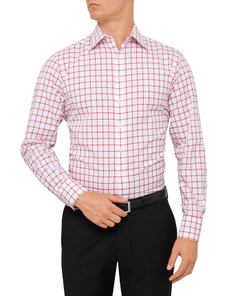 Slim Fit Hornsey Check Double Cuff Shirt