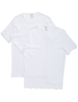 BASE ROUND NECK TEE S/S 2-PACK