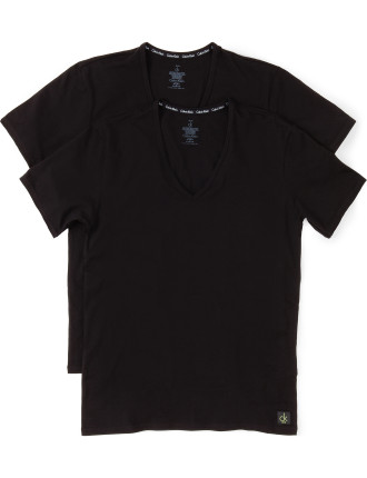 CK One Cotton V-Neck T-Shirt Pack of Two