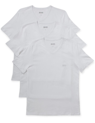 3 Pack Cotton Stretch Ss V-Neck T-Shirt