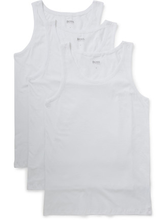3 Pack Cotton Stretch Singlet