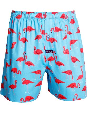 Pow Flamingo Printed Cotton Boxer