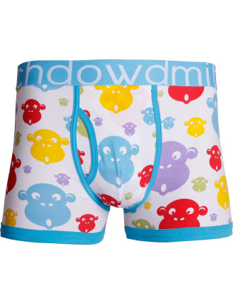 Spotlight Monkey Printed Mid Fit Trunk