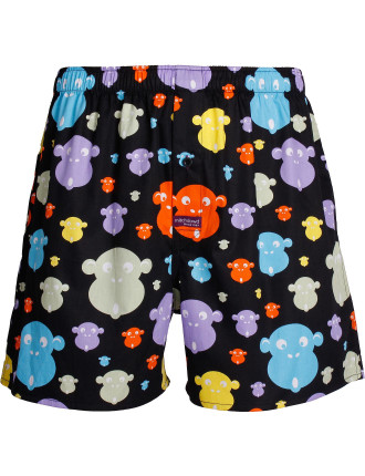 Blacklight Monkey Printed Cotton Boxer