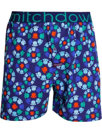 Kaleidoscope Monkey Loose Fit Knit Boxer