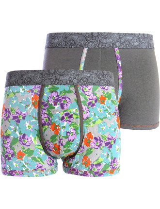 Floral and Printed Waistband 2 Pack Trunk