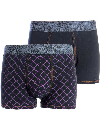 Geo and Printed Waistband 2 Pack Trunk