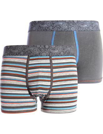 Stripe and Plain 2 Pack Trunk