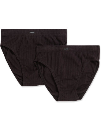 Cotton Mock Rib 2 Pack Brief