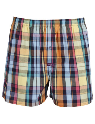 Tropical Sunset Check Boxer Short