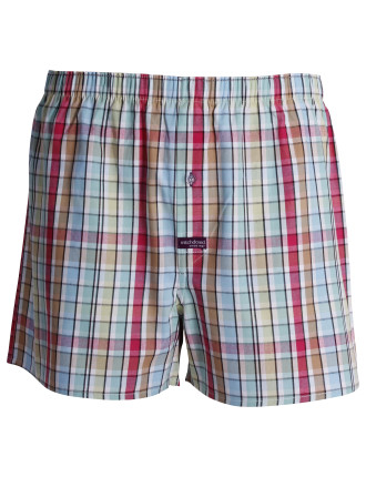 Pool Tiles Check Boxer Short