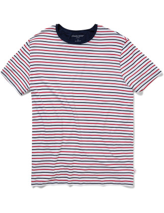 Alfie 3 Red Men'S S/S R/N T-Shirt