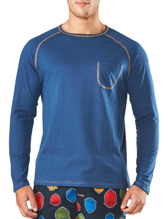 COVER STITCH RAGLAN SLEEP TEE