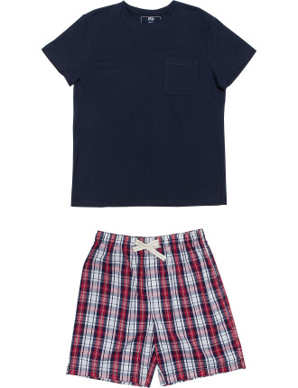 Ss Knit Top And Yd Woven Short