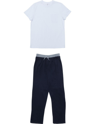 Ss Knit Top And Pant W Knit Waistband