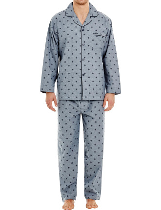Stanley Printed Chambray Long Pj Set